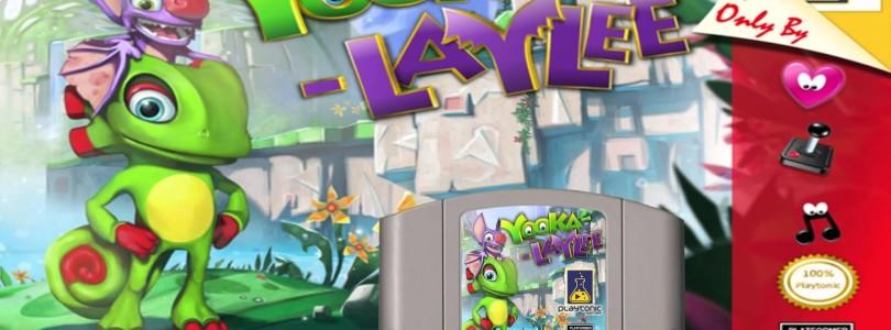 Playtonic divulga primeira imagem oficial do cartucho de Nintendo 64 de Yooka-Laylee