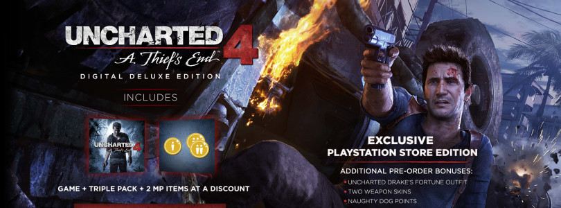 Uncharted 4: A Thief's End – Naughty Dog adia o jogo para 26 de abril de 2016